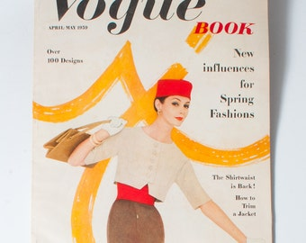 Vogue Patterns Book 1959, Vintage 50s Fashion Magazine, April May