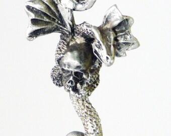 Dragon and Skull Pendant