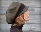 Earth Tones Slouchy Visor Beanie Newsboy Cap Fall Fashion Wool Linen