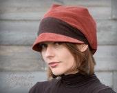 Winter Slouchy Hat  Corduroy Slouch Visor Beanie Newsboy Cap