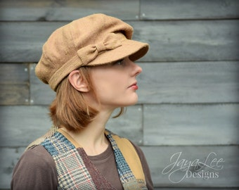 Slouch Newsboy Hat Cap Taffy Brown Autumn Winter Women Casual Fashion