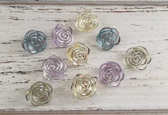 """Rose Buttons, Packaged Novelty Button Assortment, """"Bridal Bouquet"""" Style 4418 by Buttons Galore, Sewing, Crafting Embellishments, Buttons"""