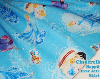 Cinderella Happily Ever After Sparkly Skirt for Girls Toddler to Pre-Teen Custom Size