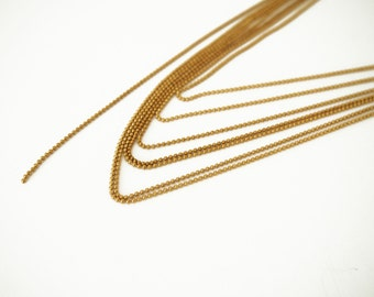 5 meters 1.2 mm Gold Brass Faceted Ball Chain brass