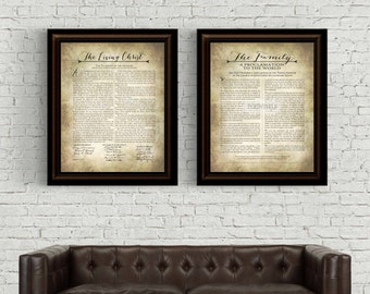 LDS The Living Christ and Family Proclamation Printable-Instant Download-Digital File-Multiple Sizes Included-LDS