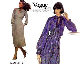 1970s JEAN MUIR Evening Dress Maxi Dress Pattern Vogue Designer Original 1725 Sewing Pattern Size 10 Bust 32 1/2 Inches