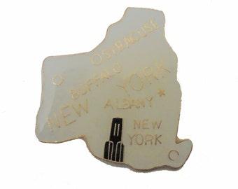 NEW YORK STATE vintage enamel pin cloisonne Buffalo Syracuse Albany nyc