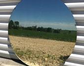 Vintage Round Frameless Mirror