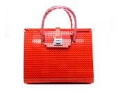 The Brick Bag in red made entirely of LEGO® bricks FREE SHIPPING handbag lego trending fashion gift idea