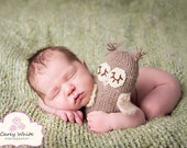 Newborn photo prop, newborn stuffed owl, newborn boy, newborn girl, newborn props, newborn owl prop, baby shower gift, newborn owl hat