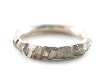 meteorite wedding ring commitment ring man wedding band meteor wedding band woman - Meteorite Wedding Ring