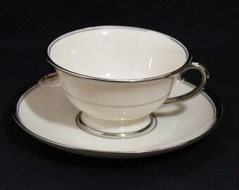 Franciscan China HUNTINGTON Tea Cup and Saucer - Item 489-1