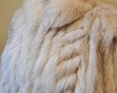 Vintage 80s Blue Fox Fur Jacket Sz. Medium