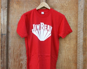 Retro Jim Beam T Shirt - New Old Stock - Medium