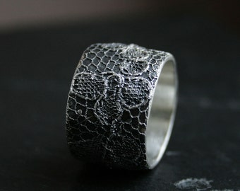 Lacey no 28 - sterling silver lace ring -  READY to SHIP in size 8 1/2 or made to order in your size