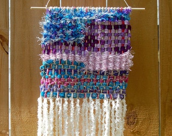 Abstract Woven Tapestry - Wall Hanging - Woven Wall Hanging - Wall Art