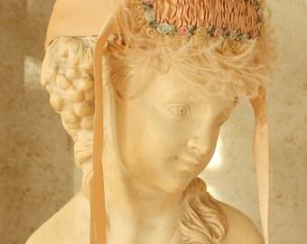 Antique Flapper Headband Silk Ribbon Work & Lace 1920's