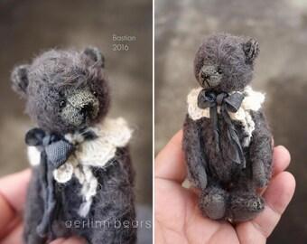 """Bastian  Miniature 4""""  Mohair Artist Teddy Bear  from Aerlinn Bears"""