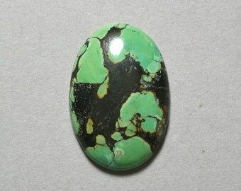 TURQUOISE cabochon oval 27X40mm blue green designer cab
