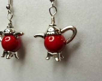 I'm a Little Red Teapot Earrings