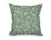 Mint Throw Pillow Cover, modern pillow cover, mint green and gray mosaic design, home decor, decorative pillow cover, printed accent pillow