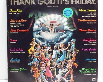 Thank God It's Friday Album Cover Purse Custom Made Vintage LP Record Album Handbag Tote