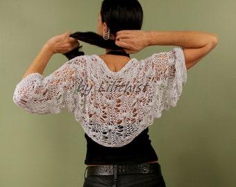Wedding Shrug Bolero, Light Grey Bolero, Crochet Bolero, Glitter Wedding Cover Up, Spring Summer, Knit Loose, Evening Bolero, Bridal Bolero