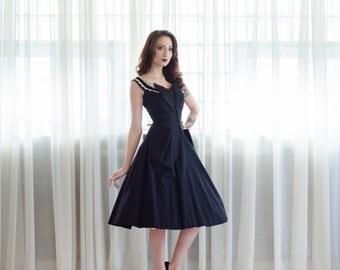 50s Party Dress - Vintage 1950s Cocktail Dress - Present Perfect Dress