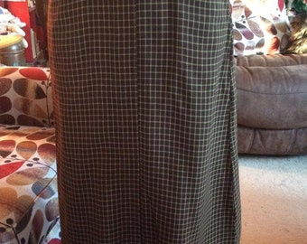 Vintage 1950s Skirt Straight Brown Metal Back Zipper