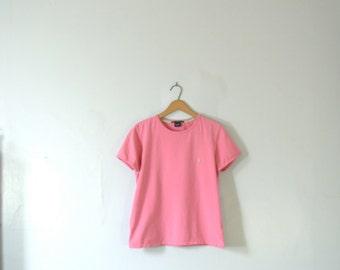 Vintage 90's Ralph Lauren pink shirt, size large
