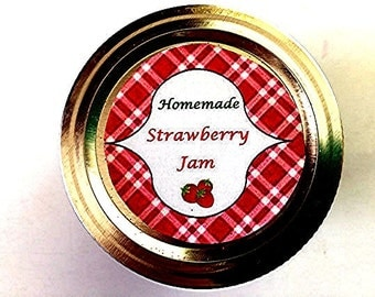 Canning Jar label Strawberry Jam  -  PDF handmade tag  - Mason Jar Label - CanningJar Tag  -  Christmas  Gift  Tag