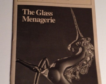Playbill 1984 The Glass Menagerie Eugene O'Neill Theatre Jessica Tandy Vintage Theater Program NYC