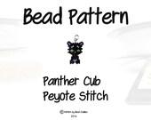 Bead Pattern - Black Panther Cub, Peyote Stitch | DIGITAL DOWNLOAD