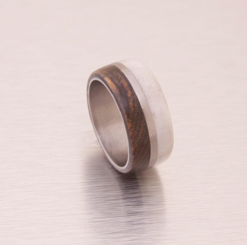 antler ring ring size 85 mens wedding band wedding ring mens With mens wedding ring size