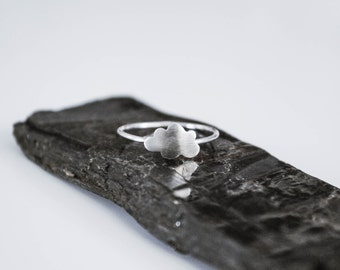 Tiny Silver Cloud Ring