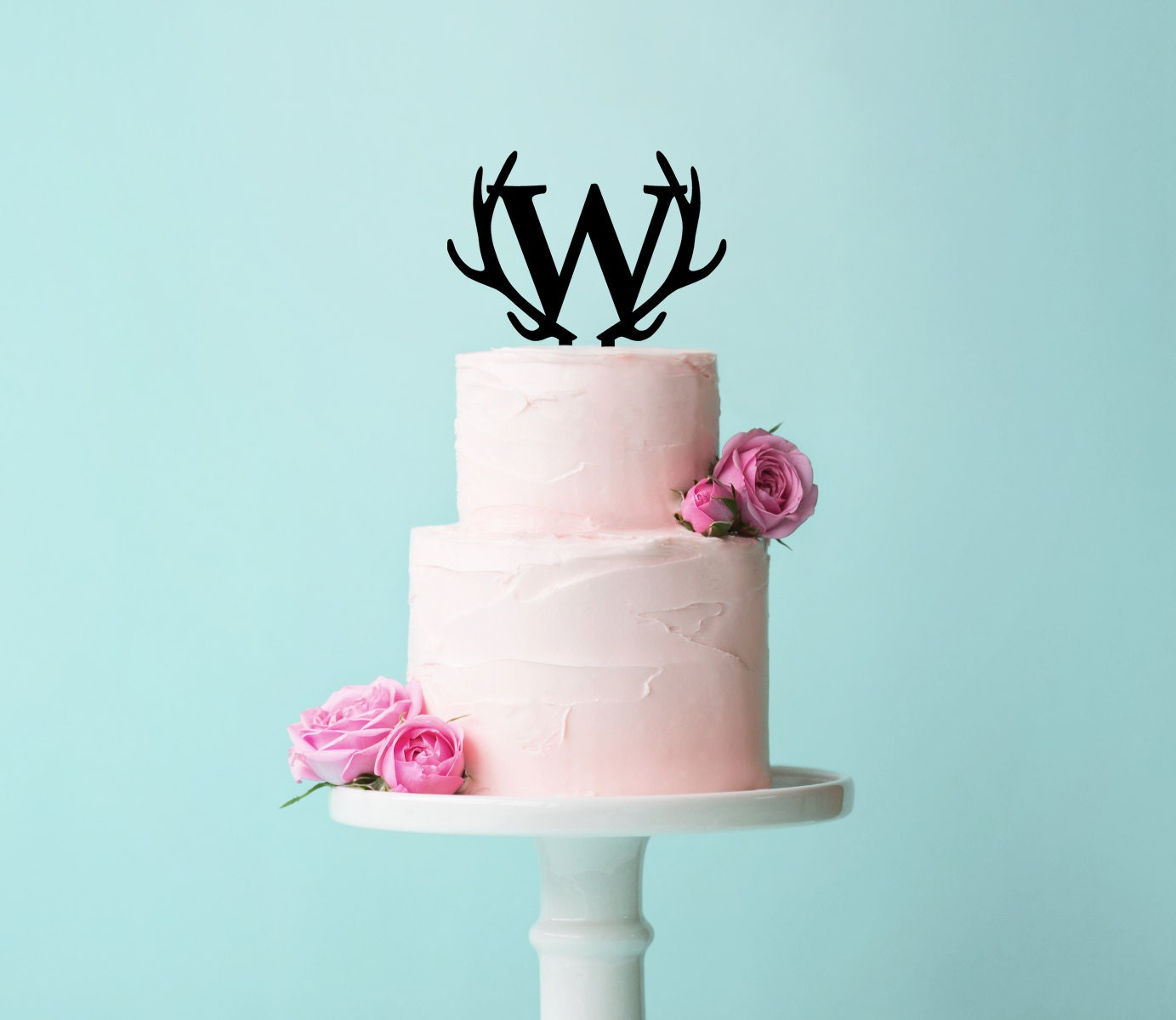 Wedding Letter Cake Topper Monogram in Glitter by
