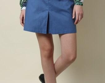 Sale, Mini skirt, Womens skirts, High waist skirt, blue skirt, Day skirt, Casual skirt, Short skirt, pleated skirt, elegant skirt, A line