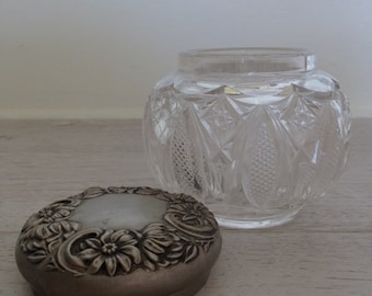 Cut Crystal Vanity Jar