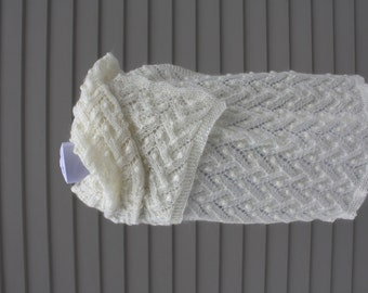Wrap, Scarf, Estonian Nupps, Natural white