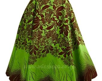 Starla Lime Tiki Shwe-Shwe flared Skirt