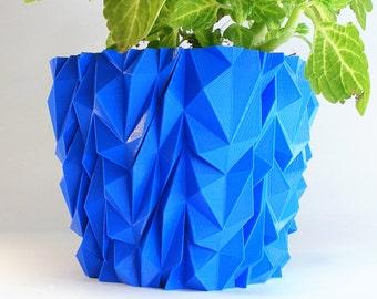 EXO Armored Planter 3D Printed Abstract Polygon Decor Art Planter