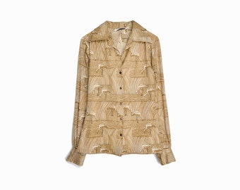 sale! 20% off - Vintage 70s Ibis Disco Shirt - women's medium