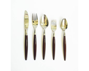 Mid Century Flatware Set / 4 Place Settings / 20 Pieces / American Tempo