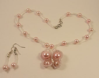 Seed Bead and Pearl Necklace