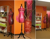 Dress Form Mannequin, Your Color, Your Word or Name, Artful Decor Custom Made Painted DEMONSTRATION Personalized Gift Customized Bridal