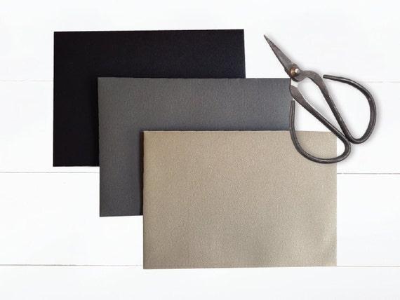 PEEL & SEAL C6 envelopes    Black, Dark Grey, Gold   wedding invitation, save the date, engagement, birthday, baby shower, invites