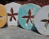 Set Of 4 Beach-y Shelf Sitters, Sand Dollars, Bowl Fillers, Wall Hangings