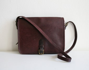 Brown Buckle Coach Satchel