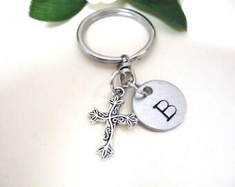 Cross Keychain - Cross Keychain - Cross Charm Keychain - Communion Keychain - Religious Keychain - Christian Keychain