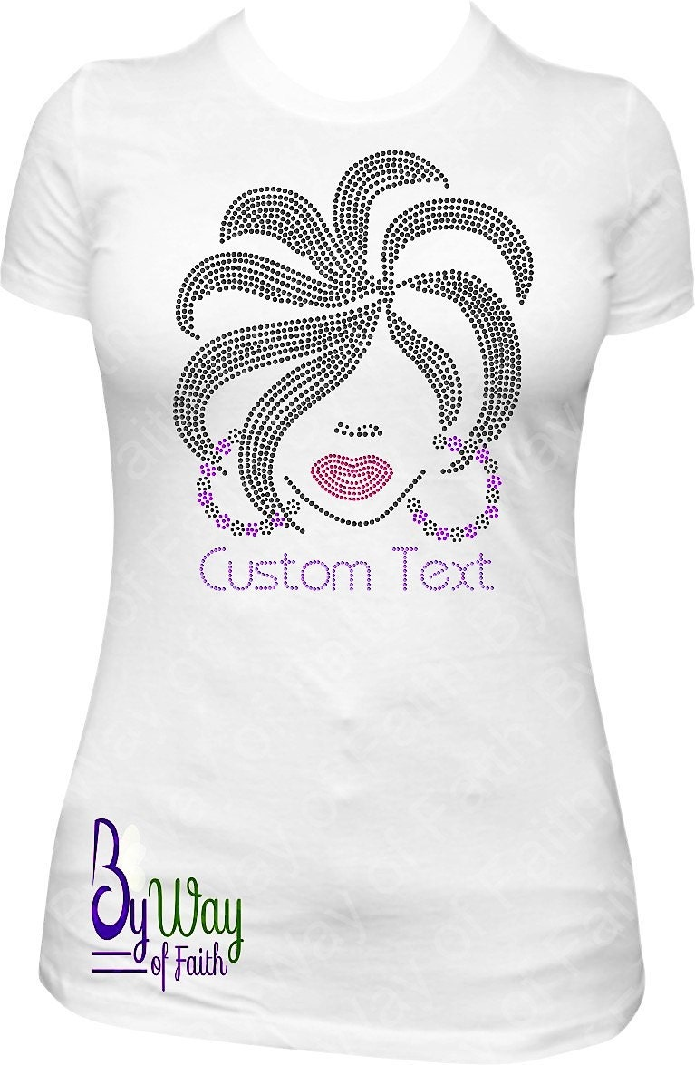 Classy Sassy Lady Bling Rhinestone Glitter T Shirt Custom